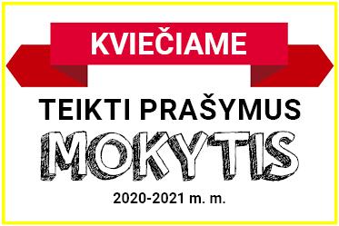 Kviečiame teikti prašymus mokytis 2020 - 2021 m.m.